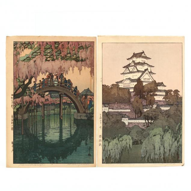 two-wooblock-prints-by-hiroshi-yoshida-japanese-1876-1950