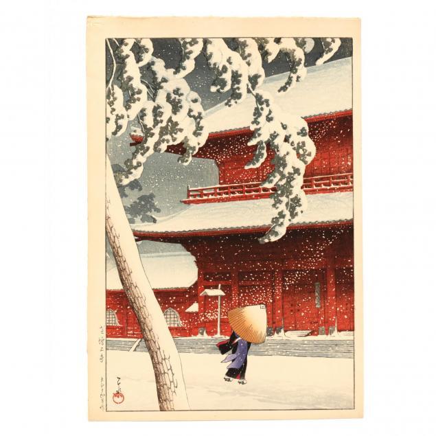 i-shiba-zojo-temple-in-the-snow-i-by-hasui-kawase-japanese-1883-1957