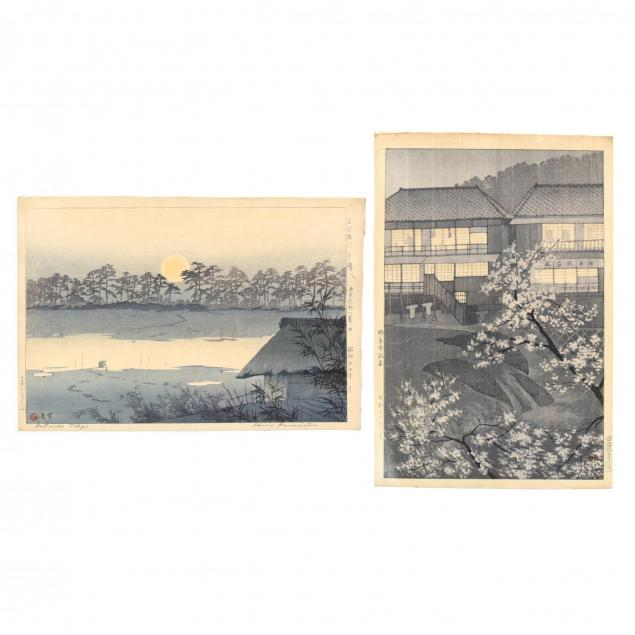 two-woodblock-prints-by-shiro-kasamatsu-japanese-1898-1992