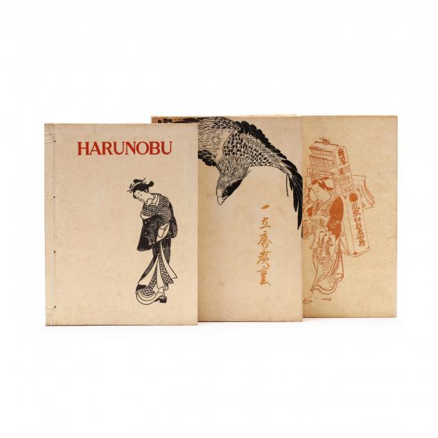 three-prewar-books-on-japanese-woodblock-artists-by-yone-noguchi