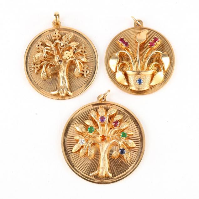 three-14kt-gold-and-gem-set-charms-henry-dankner