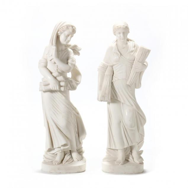 pair-of-classical-style-carved-marble-allegorical-statues