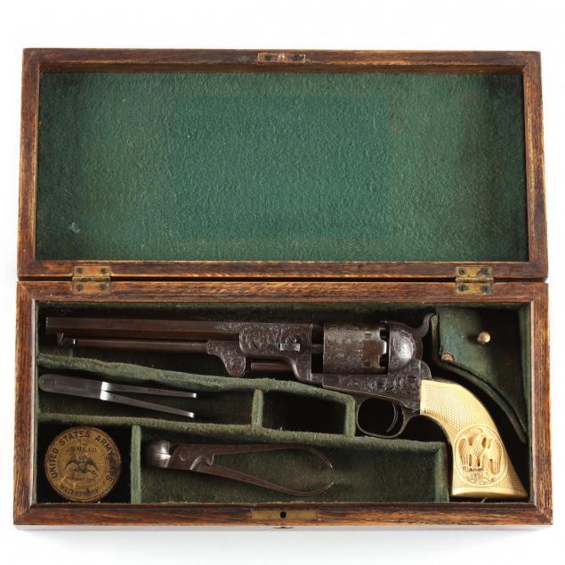 cased-custom-engraved-colt-model-1851-navy-revolver