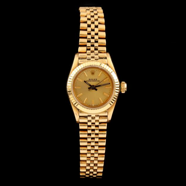 lady-s-18kt-oyster-perpetual-watch-rolex