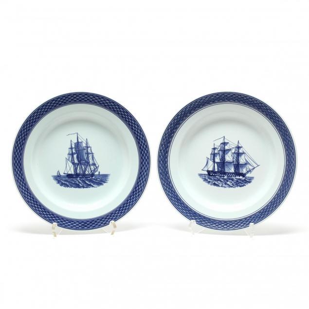 two-royal-copenhagen-aluminia-plates