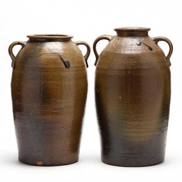 a-pair-of-western-nc-pottery-vessels