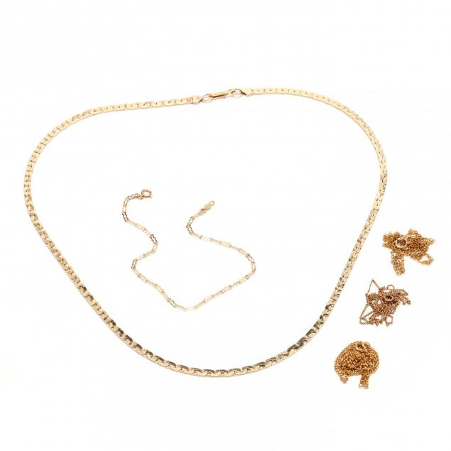 five-14kt-gold-chains-and-necklaces