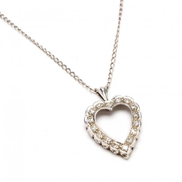 14kt-white-gold-and-diamond-heart-necklace