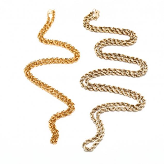 two-14kt-gold-rope-twist-chains