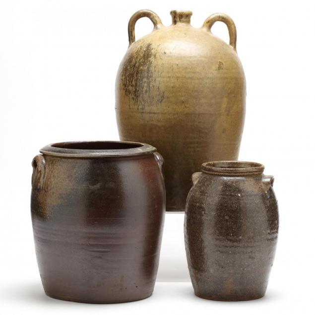 three-western-nc-pottery-storage-vessels