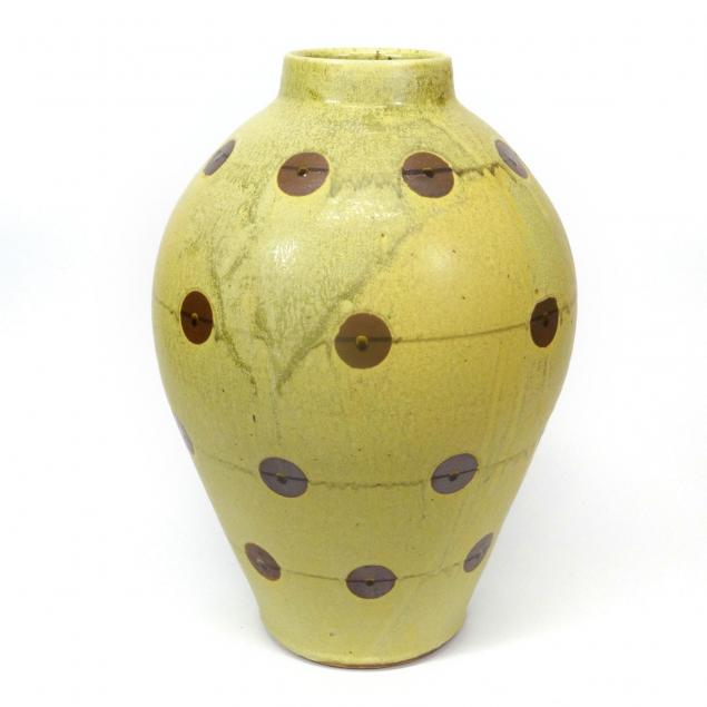 fred-johnston-guinea-hen-motif-vase