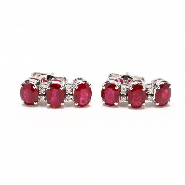 18kt-white-gold-ruby-and-diamond-earrings