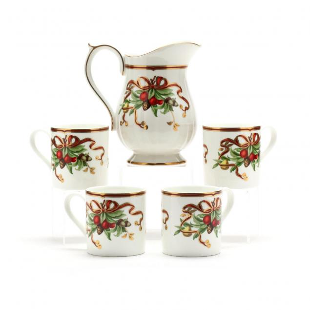 tiffany-holiday-pitcher-and-mugs