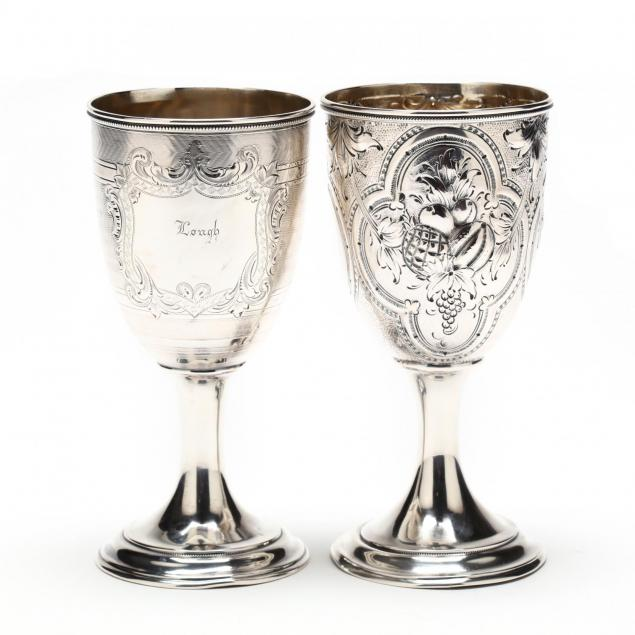 two-gorham-coin-silver-goblets
