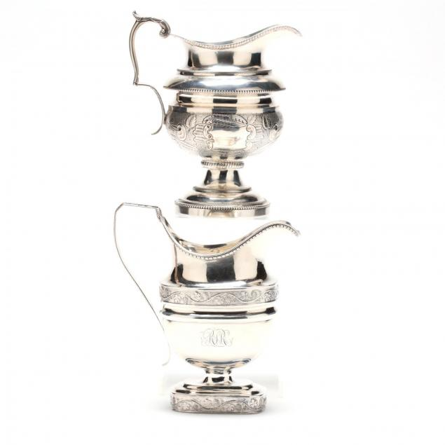 two-american-coin-silver-creamers