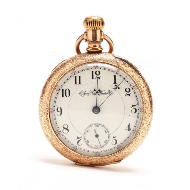 antique-14kt-open-face-pocket-watch