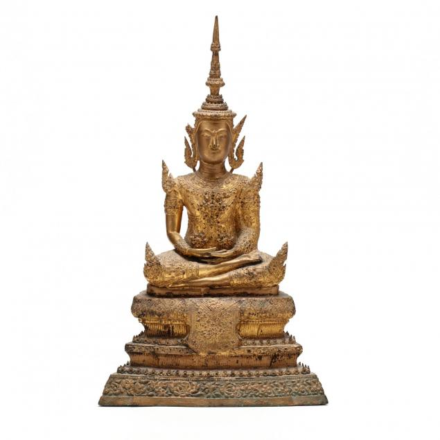 a-gilt-thai-rattanakosin-seated-buddha