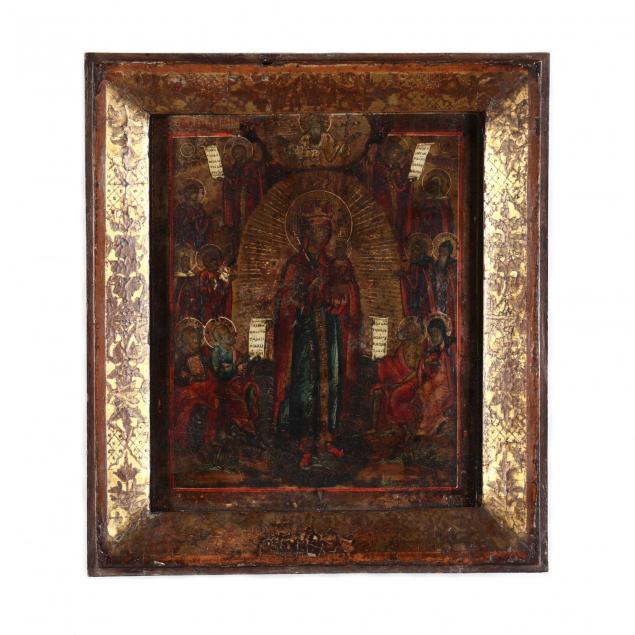 an-antique-russian-icon-of-the-mother-of-god-the-joy-of-all-who-sorrow