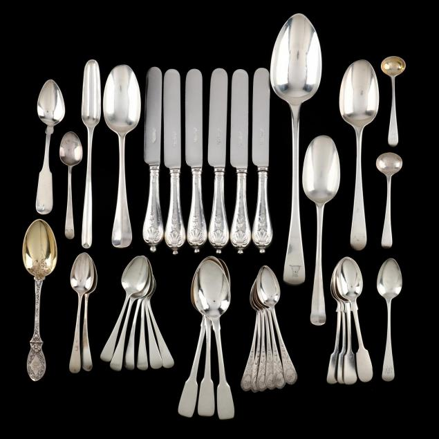 a-collection-of-georgian-victorian-silver-flatware