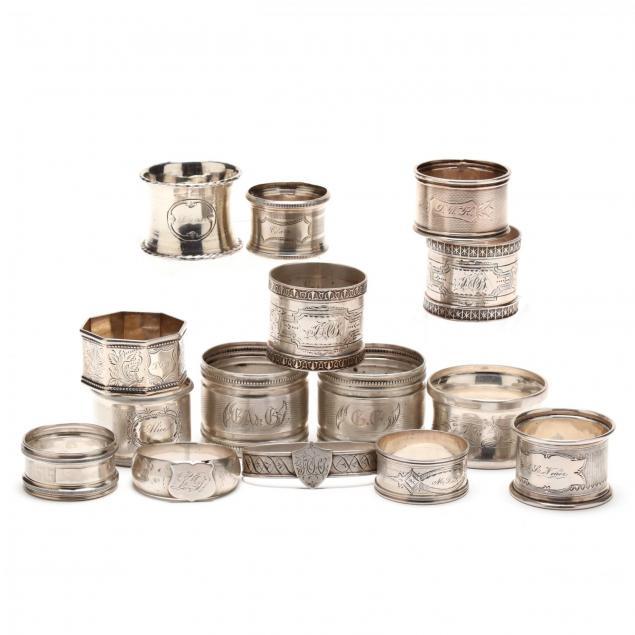 sixteen-antique-silver-napkin-rings