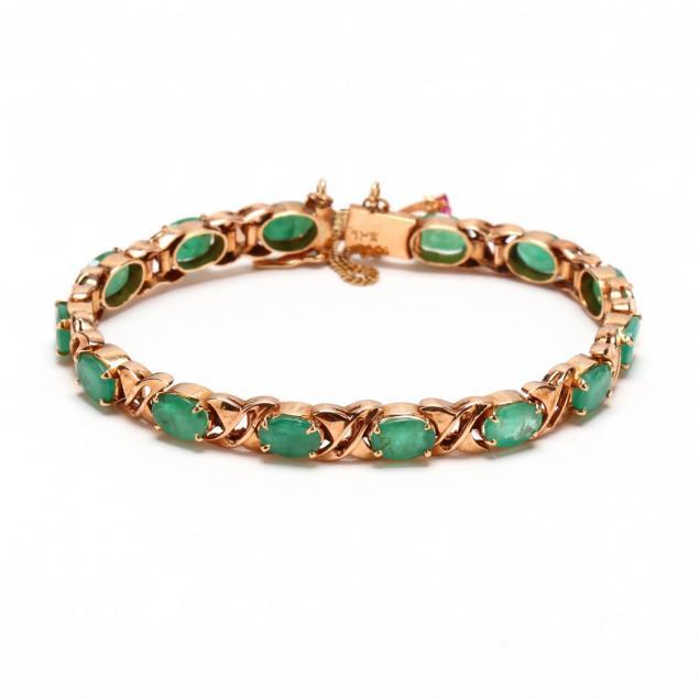 14kt-rose-gold-and-emerald-bracelet