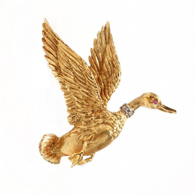 18kt-gold-and-gem-set-brooch
