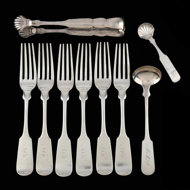 group-of-coin-silver-flatware