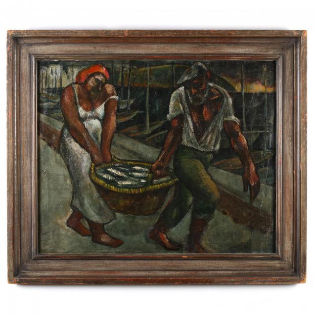 emanuel-romano-ny-italy-1897-1984-i-carrying-a-basket-of-fishes-i