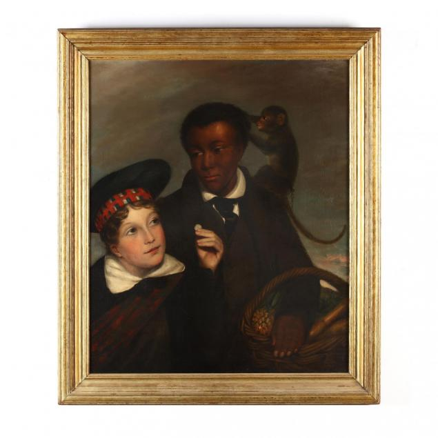 scottish-school-portrait-of-a-young-boy-paying-a-vendor