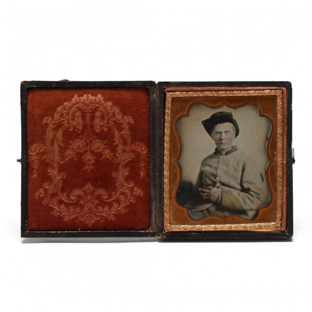 sixth-plate-ruby-ambrotype-of-an-armed-confederate-enlisted-man