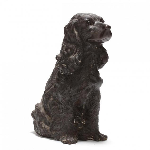 contemporary-cast-bronze-life-size-spaniel