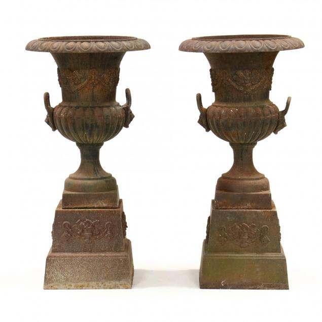 pair-of-large-classical-style-cast-iron-garden-urns