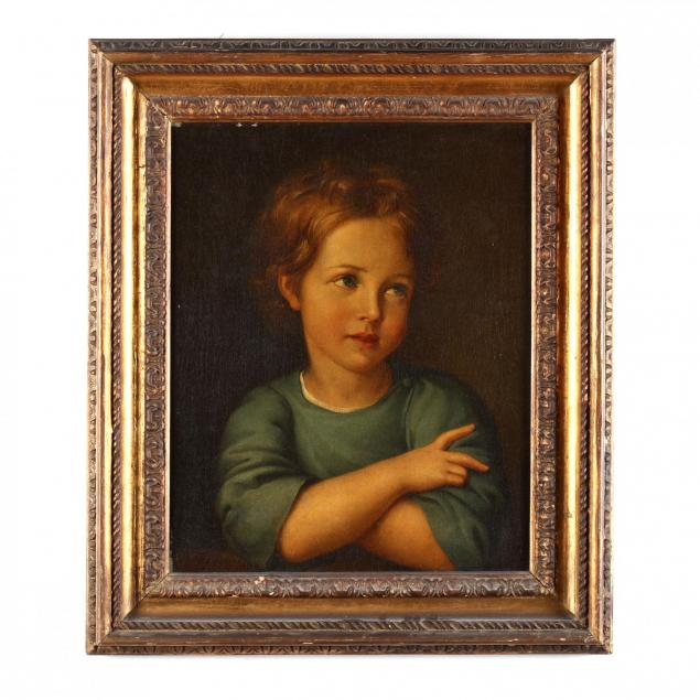 an-antique-russian-portrait-of-viktor-balabin-as-a-child