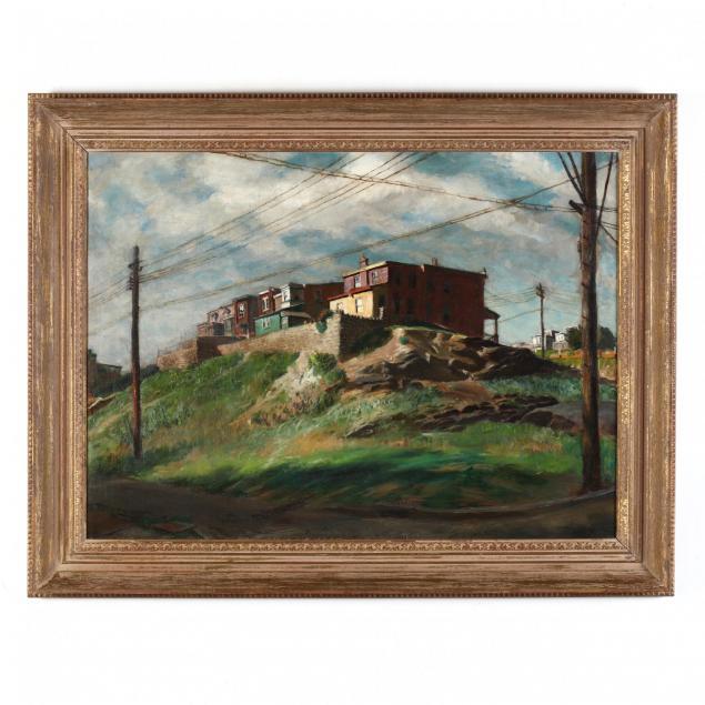 francis-speight-nc-pa-1896-1989-i-houses-on-a-hill-i