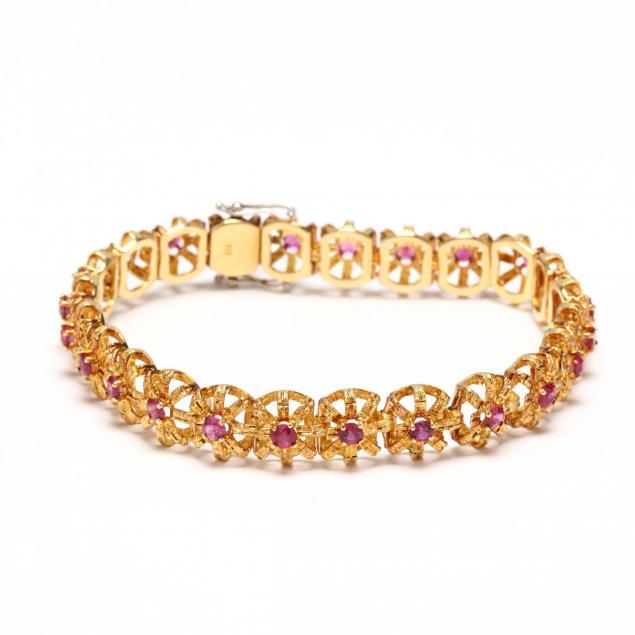 18kt-gold-and-ruby-bracelet