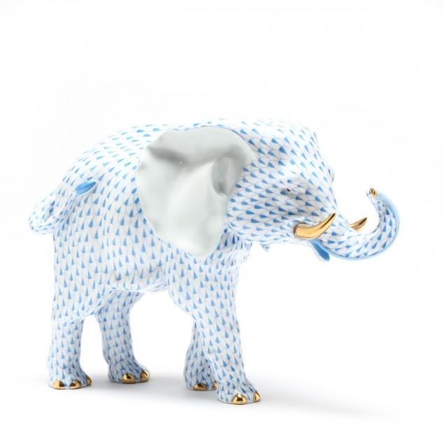 large-herend-porcelain-elephant