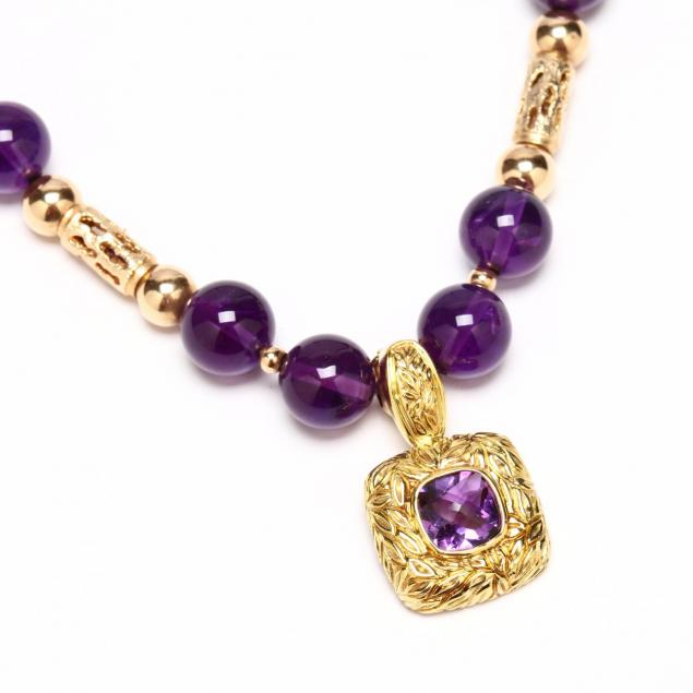 14kt-gold-and-amethyst-necklace-with-amethyst-pendant-enhancer