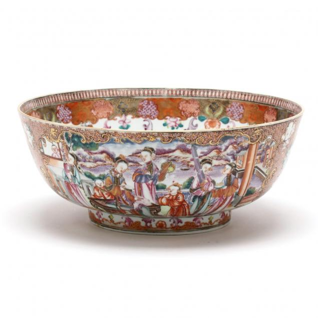 a-chinese-export-porcelain-mandarin-palette-punch-bowl