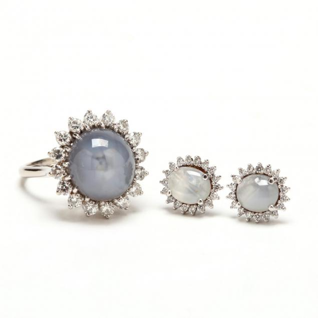 14kt-white-gold-star-sapphire-and-diamond-ring-and-earrings
