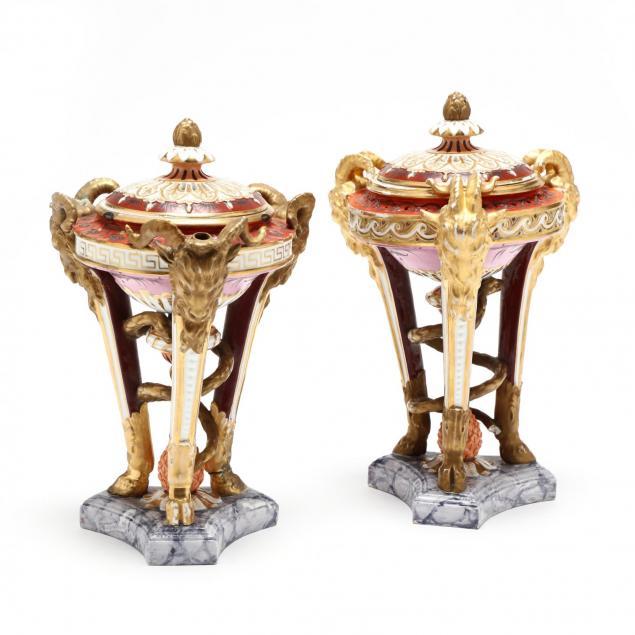 two-similar-royal-crown-derby-regency-perfume-burners