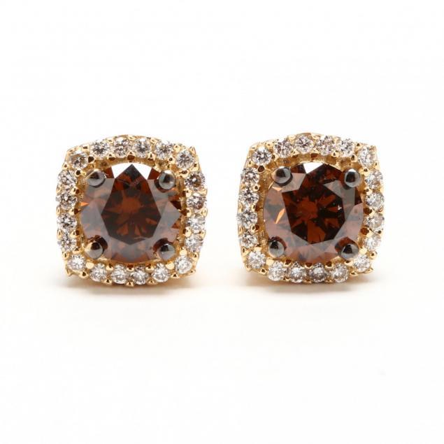 14kt-fancy-brown-diamond-and-diamond-ear-studs-le-vian