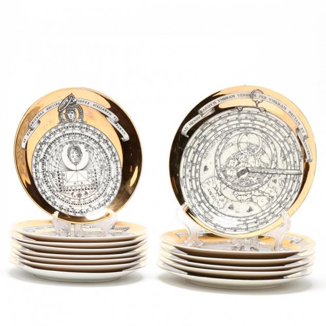 piero-fornasetti-milan-1913-1988-set-of-14-vintage-i-astrolabio-i-plates
