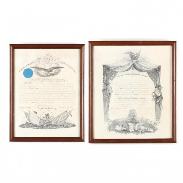 two-military-certificates-from-a-new-york-family-one-signed-by-abraham-lincoln