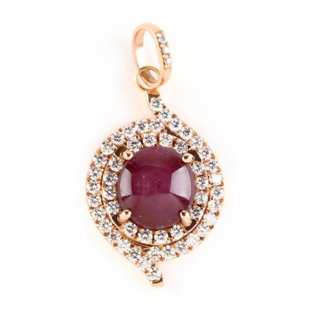 18kt-rose-gold-star-ruby-and-diamond-pendant