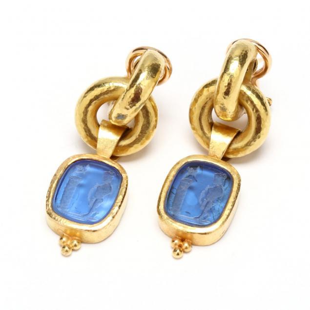 18kt-gold-and-intaglio-earrings-elizabeth-locke