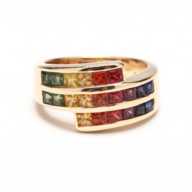 14kt-gold-and-multi-color-corundum-ring
