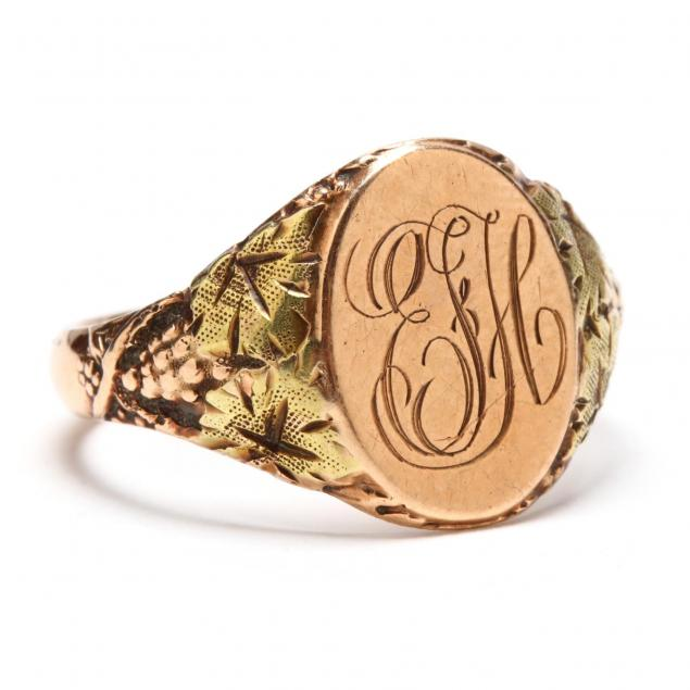 victorian-10kt-gold-signet-ring