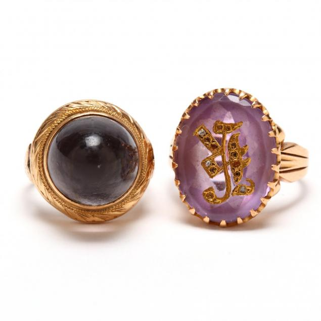 two-antique-rings