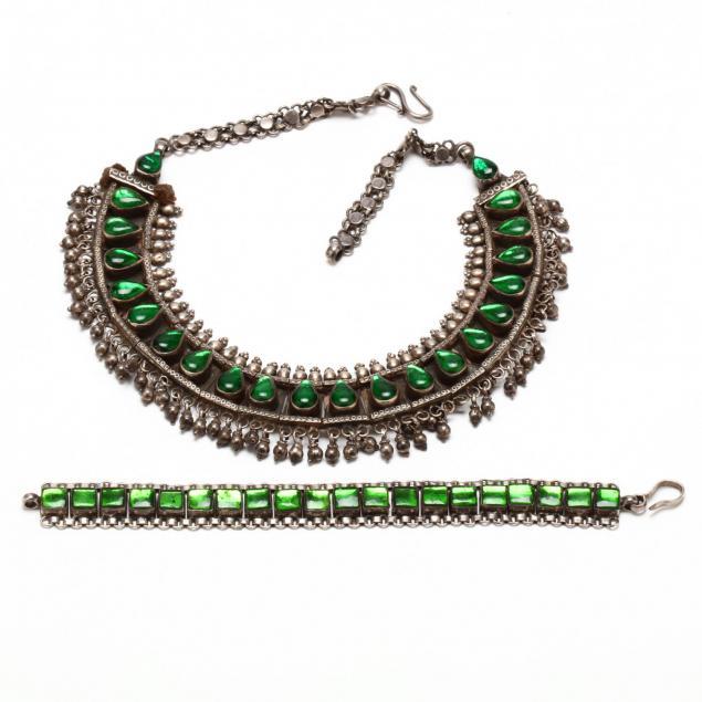 southeast-asian-silver-necklace-and-bracelet