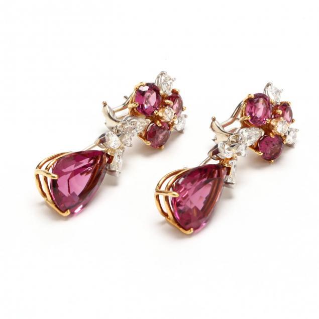 18kt-pink-tourmaline-and-diamond-day-night-earrings